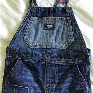 OshKosh Boys Flannel Lined Overalls Size 3T